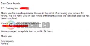 Permohonan refund diterima dan akan divalidasi
