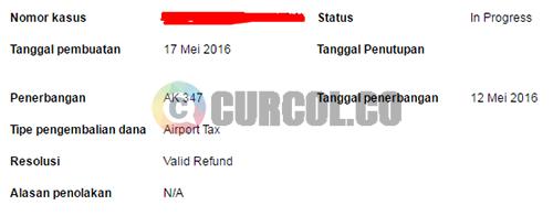 Status refund tiket