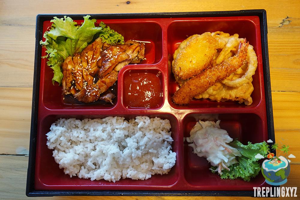 Grilled chicken teriyaki bento