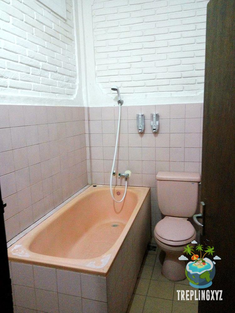 Kamar mandi dengan bath tub