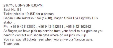 Contoh konfirmasi pemesanan tiket via inbox FB