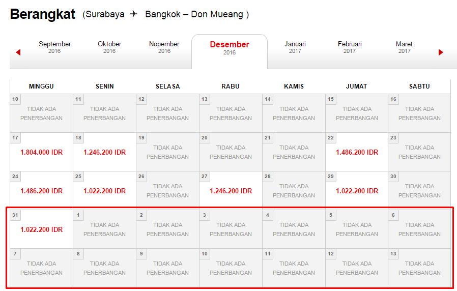 Rute Surabaya - Bangkok berakhir di Juli