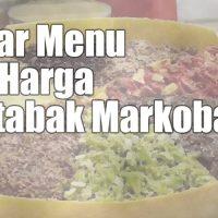 menu harga markobar