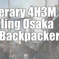itinerary osaka backpacker