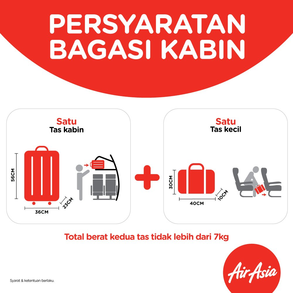 Perubahan Persyaratan Bagasi Kabin AirAsia (Update Maret 2017)